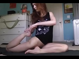 Perfect teen performing naked yoga 2