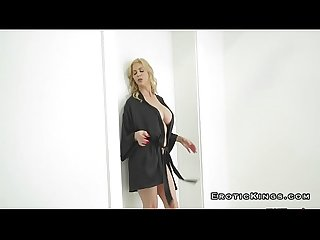 Stepmom with amazing boobs riding cock and squirting