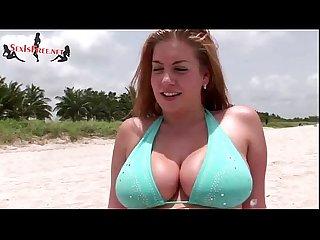 Redhead with massive natural tits fucks boyfriend