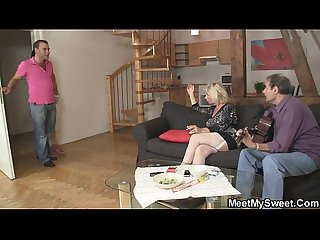Sweetie gets lured into threesome by her bf s parents