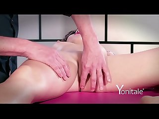Yonitale Study: mystery girl has massage and real orgasms. P 1