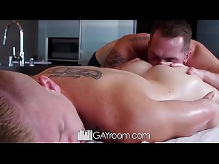 GayRoom Massage fuck with Jackson Cooper and Leo Luckett