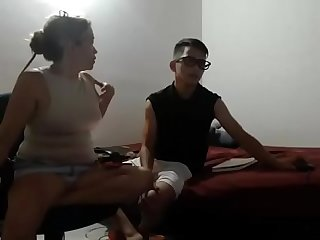 teen boy and his mom sexy on cam