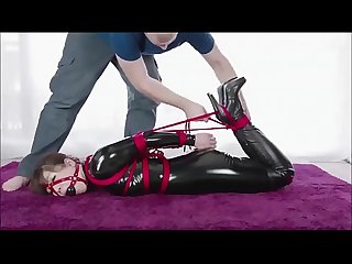 Cute japanese girl in latex gets tied up bondage asianbondagetube com