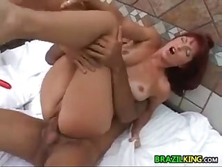 Brazilian mother gets it in the butt