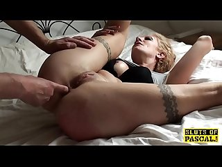 Bonded english sub slut deepthroating maledom
