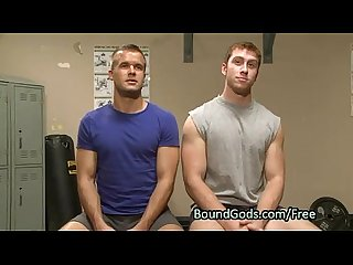Gay throat and asshole fucked in bdsm