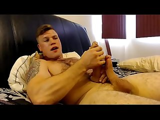 Hairy-breasted guy masturbates in chaturbate