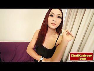 Transsexual thai teen models her body