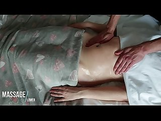 Sensual and Romantic Massage of HOT Soft Oiled Belly