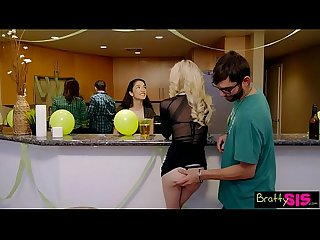 Lucky Brothers first threeway is with slutty step sisters s4 e8