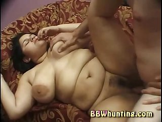 Plumper bitch does two dicks