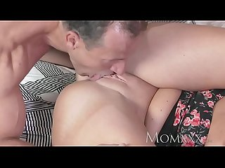 MOM Sexy woman has her shaved pussy licked and fucked by older guy