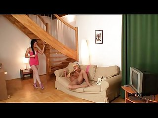 Amateur couple having wicked nylon pantyhose sex