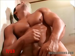 13 Alpha-Males Jerk Off