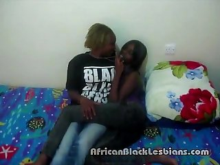 2 Hot African beauties Alexis and Jasmine wild in homemade sex video