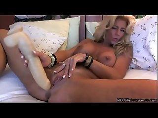 Stunning busty blonde milf on cam milfiliciouscams com