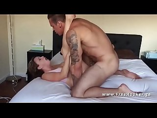 Buff tatted guy drills hot college hooker chick she from www freehooker us