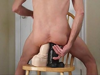 Double anal huge penis dildos fuck my ass deep and hard