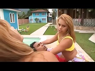 Simone brazilian milf thresome with her daughter