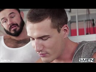 Handsome jessy ares and theo ford taking turns in blowing cock