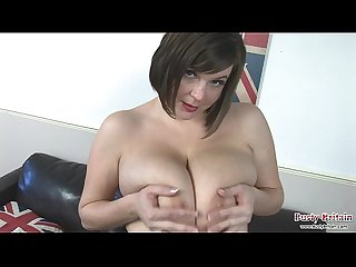 Roxy anderson plays with her udders