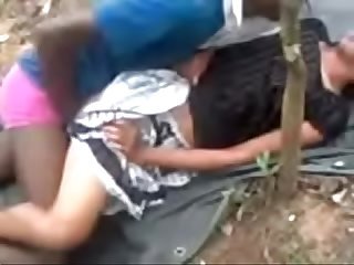 Indian girl fucking in outdoor