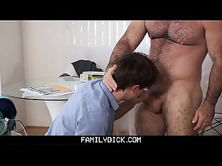 FamilyDick - Muscle daddy barebacks stepson
