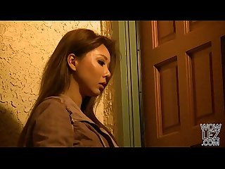 Pretty asian girl Ayumi Anime visits Dana Dearmond for some lesbian adventure