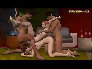 Anime gangbang on sofa more at www hentaidreams club