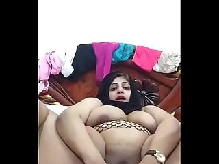 Arab hijab bbw lady doing cam with her lover
