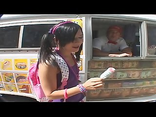 Bubble butt teen gets picked up by icecream man classic