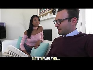 Hot Black Stepdaughter Nia Nicci With Big Tits Fucked By White Stepdad