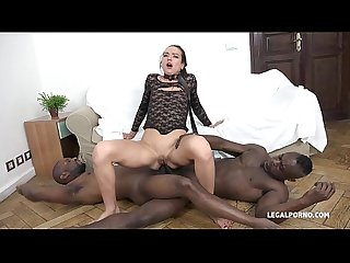 Nataly gold watch and see how 4 black guys destroy her asshole
