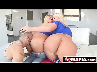 Lucky guy gets two curvy beauties karen fisher Julie cash