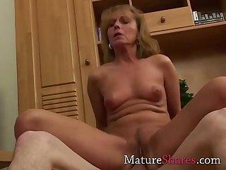 Steamy skinny mature