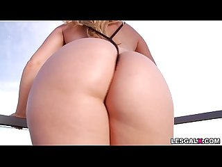 Bottylicious babes Ashley Fires and AJ Applegate show their love in a stunning lesbian ass..