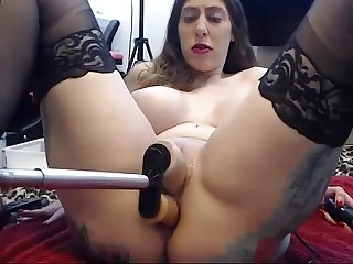 Stockings girl gets railed by fucking machine and deepthroats toy long video webcamsluts site