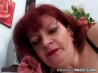 Redhead Granny Can't Wait For Anal With Young Dick