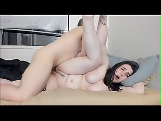 Flexible Amateur Teen Takes A Huge Creampie From Brothers Friend
