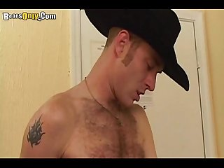 Sucking a hairy cowboy