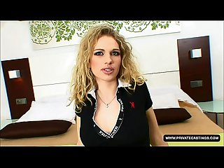 Aneta takes her opportunity in this casting squirting