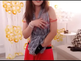 LittleTeenBB Riley schoolgirl outfit strip, shows off breasts as she dances