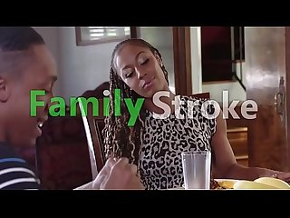 Groupal Ebony Family Dinner: Full HD FamilyStroke.net