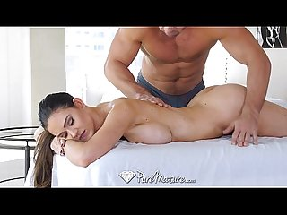 Puremature perfect 10 babe Kendall karson is fucked on the massage table