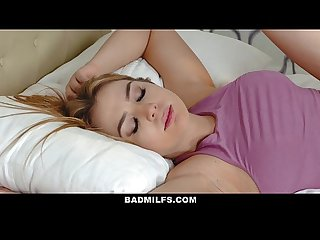 BADMilfs - Step-MOM Jacks Off and Fucks Step-Son
