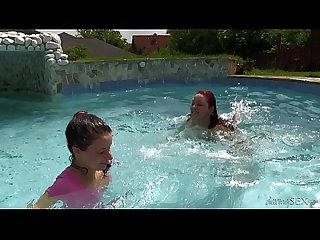 Nanny anita bellini lesbian play in pool