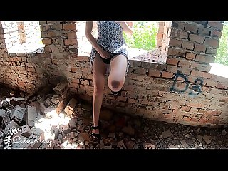 FUCK ON AN ABANDONED CONSTRUCTION SITE | Stranger Creampie Teen Outdoor