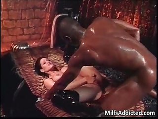 Very hot milf in leather boots