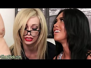 Kinky domina blows idiot